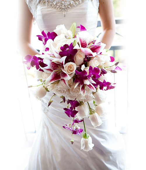 Bride Purple & Pink Bouquet